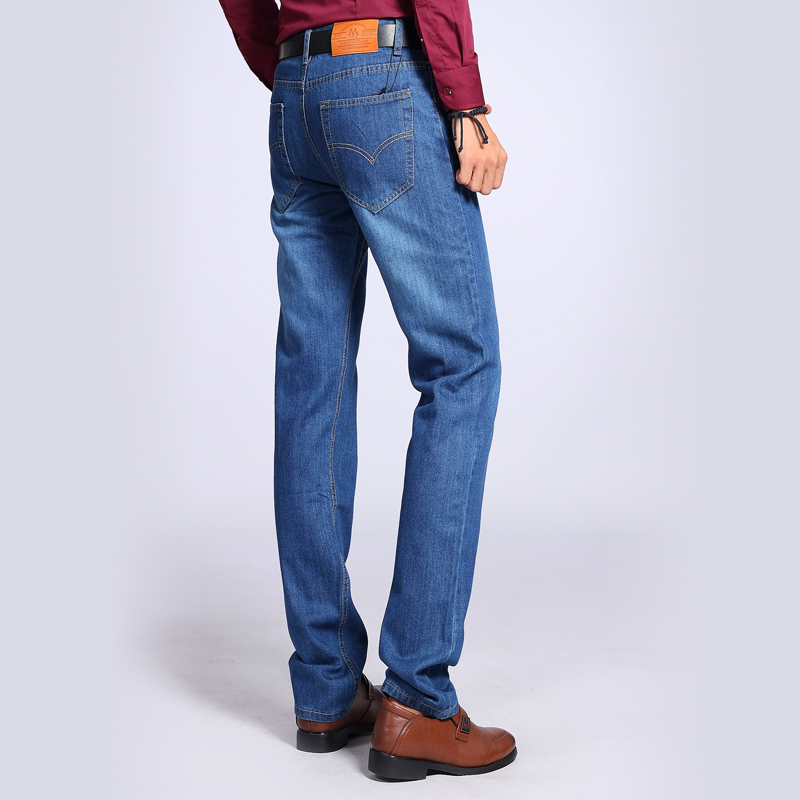 2015 fashion Men's straight jeans Wild spring and summer daily casual and simple style Inexpensive solid jeans Size 28-40