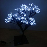 New 50LEDs LED Christmas Tree Lights Holiday Lighting Cherry Blossom Tree Chanel Chandelier Garland For New