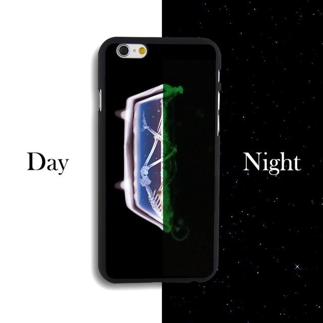 2016 NEW Bathtub Skull Print Hard Luminous Pc Hard Case For IPhone 4 4s 5 5s