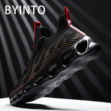 Size 39-46 2019 men tennis shoes breathable fly weaving hollow sock black sneakers gym sport shoes male trainers tenis masculino(China)