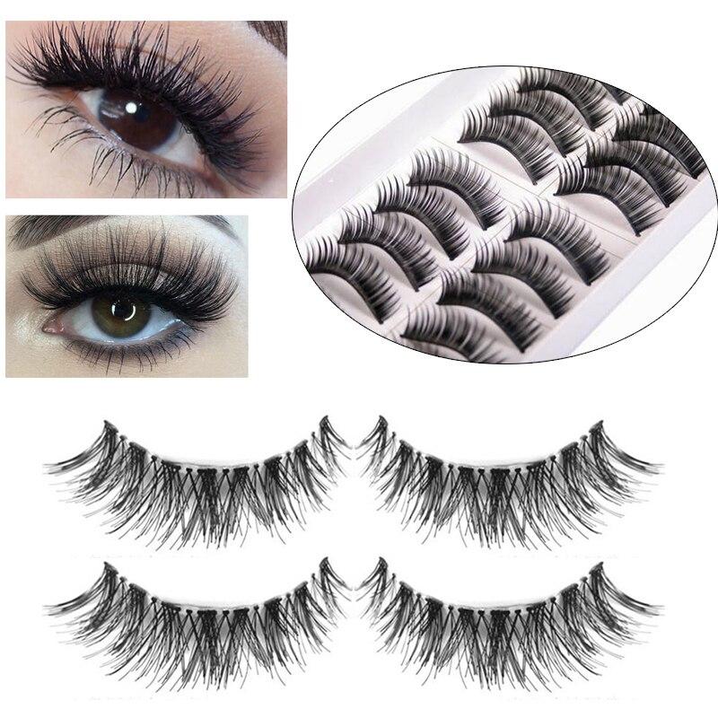 10 Pairs Natural False Eyelashes Fake Lashes Long Makeup 3d Mink Lashes Eyelash Extension Handmade Fake Eyelashes For Beauty