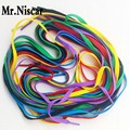 Mr.Niscar 10 Pair Red Polyester Flat Shoelaces Casual Canvas Shoes Colored Shoe Laces Factory Outlet 3m Rope Laces Shoestring
