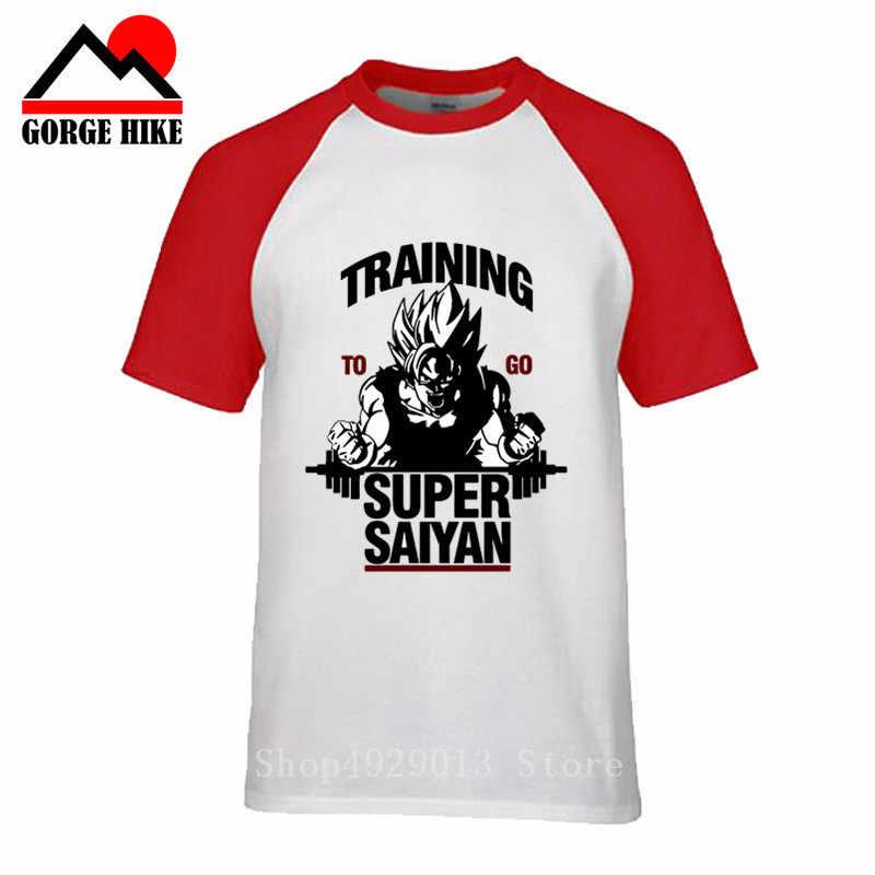 Anime héroe de Dragon Ball Z de los hombres T camisa formación a Super Saiyan impreso hijo de Goku Vegeta gimnasio camiseta tops camiseta/Hipster camisetas/Hipster ropa