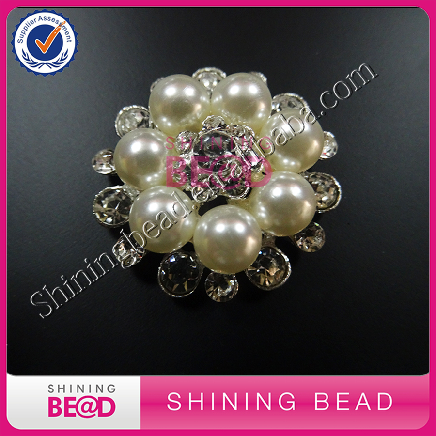 160pcs/lot+Fashion bridal wedding jewelry pearl brooch with pin pearl embellishments for wedding invitation