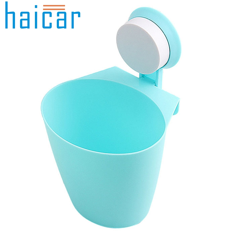 Haicar organizer Fashion Suction Cup Mount Hanging Bathroom Kitchen Trash Can Storage Box organizer quality first