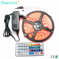 Free Shipping 1 Set 5M Non Waterproof SMD 3528 300 LED Flexible Led RGB Strip Colorful