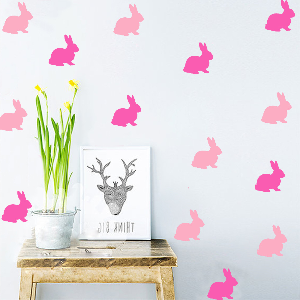 online get cheap baby nursery wall stickers aliexpress com os1564 7 5cmx8cm cute bunny wall sticker baby nursery wall decal removable easy wall vinyl decals