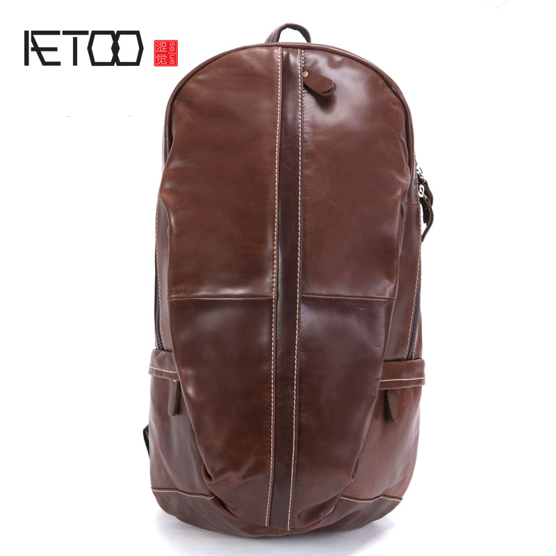 AETOO New leather backpack men
