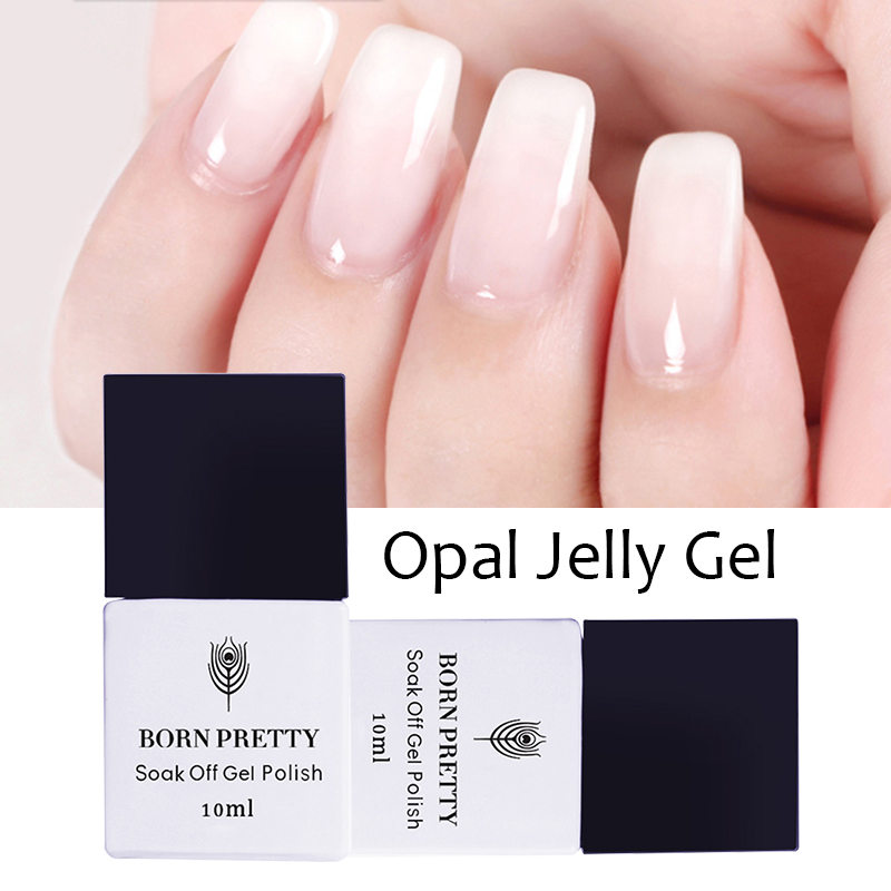 1 Botella 10 ml BORN PRETTY Opal Jelly Gel Blanco Soak Off Manicure - Arte de uñas