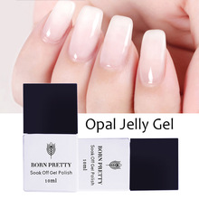 1 Bottle 10ml BORN PRETTY Opal Jelly Gel Pink Jelly Gel Base Coat No Wipe Top Coat White Soak Off Nail UV Gel Polish Varnish