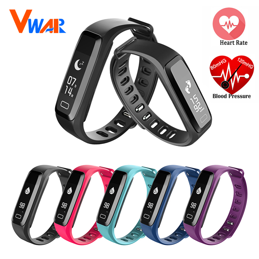 Vwar G15 Sport Smartband Watch Blood Pressure Heart Rate Monitor IP67 Waterproof Smart Bracelet with Remote