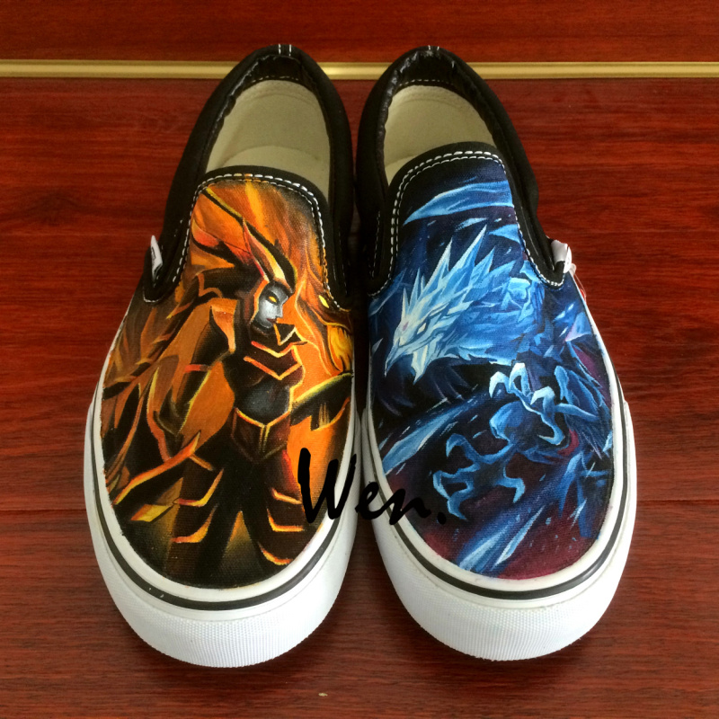 Wen Custom Hand Painted Shoes Design Cryophoenix Half dragon Slip On Canvas  Sneakers for Men Women s Christmas Birthday Gifts on Aliexpress.com  c9ab7eb41
