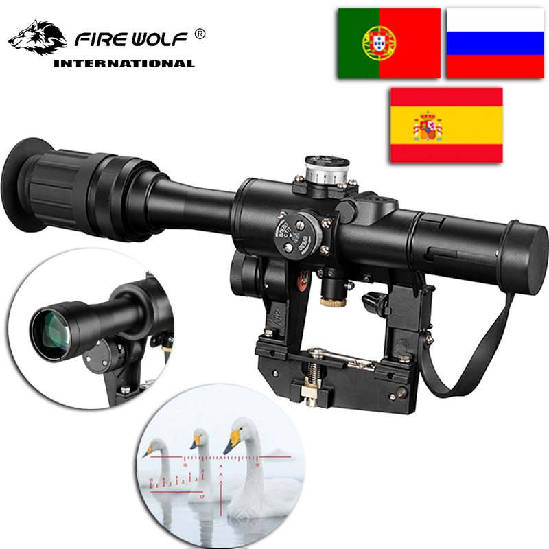 SVD 4x24 Red Illuminate Reticle Optical Rifle Scope Latest for hunting collimator sight Ak47SVD 4x24 Red Illuminate Reticle Optical Rifle Scope Latest for hunting collimator sight Ak47