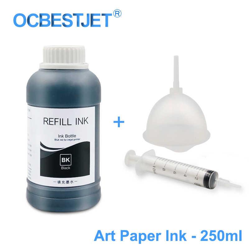 250 ml/Garrafa Papel de Arte Da Arte Da Tinta Tinta Pigmentada Para Epson T50 T60 P50 R200 R230 R260 R280 L1300 1390 1400 1410 1430 1500 w T1100 T1110