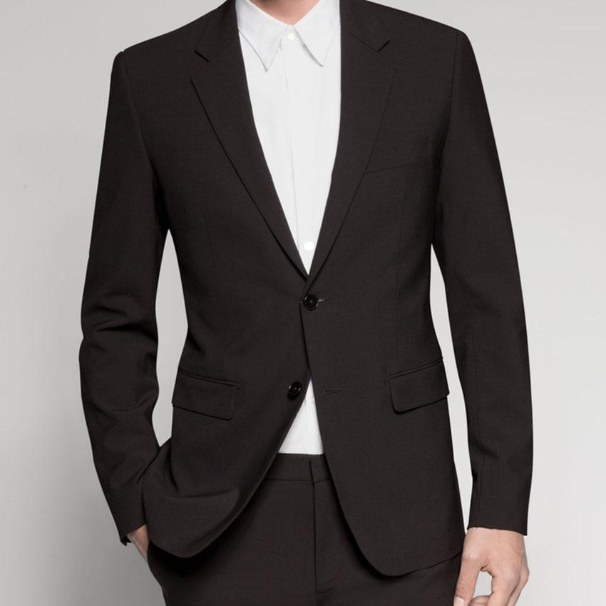 맞춤형 남성용 맞춤형 정장, 맞춤형 클래식 블랙 남성 정장, 맞춤형 턱시도 (자켓 + 바지 + 타이 + 포켓 스퀘어)-에서정장부터 남성 의류 의  그룹 1
