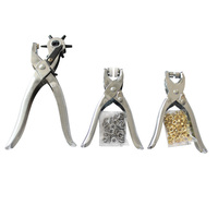 3 Pieces 3in1 Card Leather Belt Hole Punch Eyelet Plier Snap Button Setter Eyelet Snap Punch