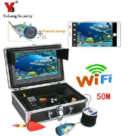 Yobang безопасности 9 дюймов WI FI Ice подводный Камера Рыбалка ИК Ночное видение Камера для Fishfinder 50 м ice/лодка Рыболокаторы