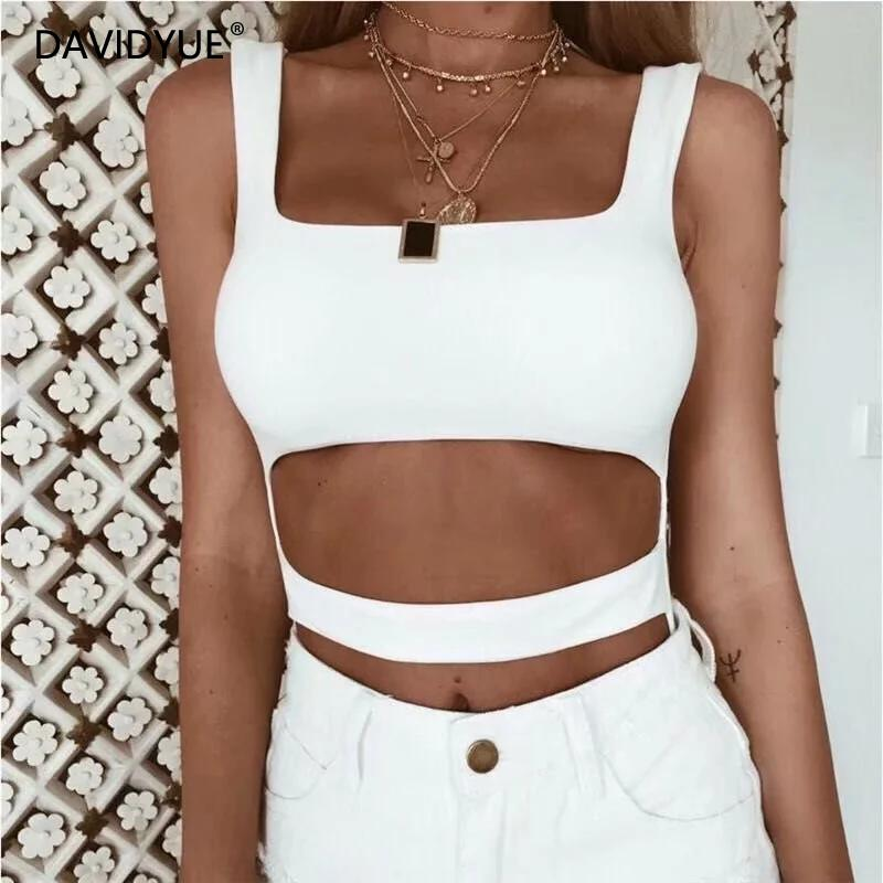 Sexy backless balck white bodysuit Women Sleeveless elastic bandage   jumpsuit   shorts body mujer Summer rompers womens   jumpsuit