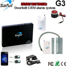 Saful GSM Alarm System Wireless Home Burglar Security Hot support SMS/Phone remote settings  with roller shutter door sensor