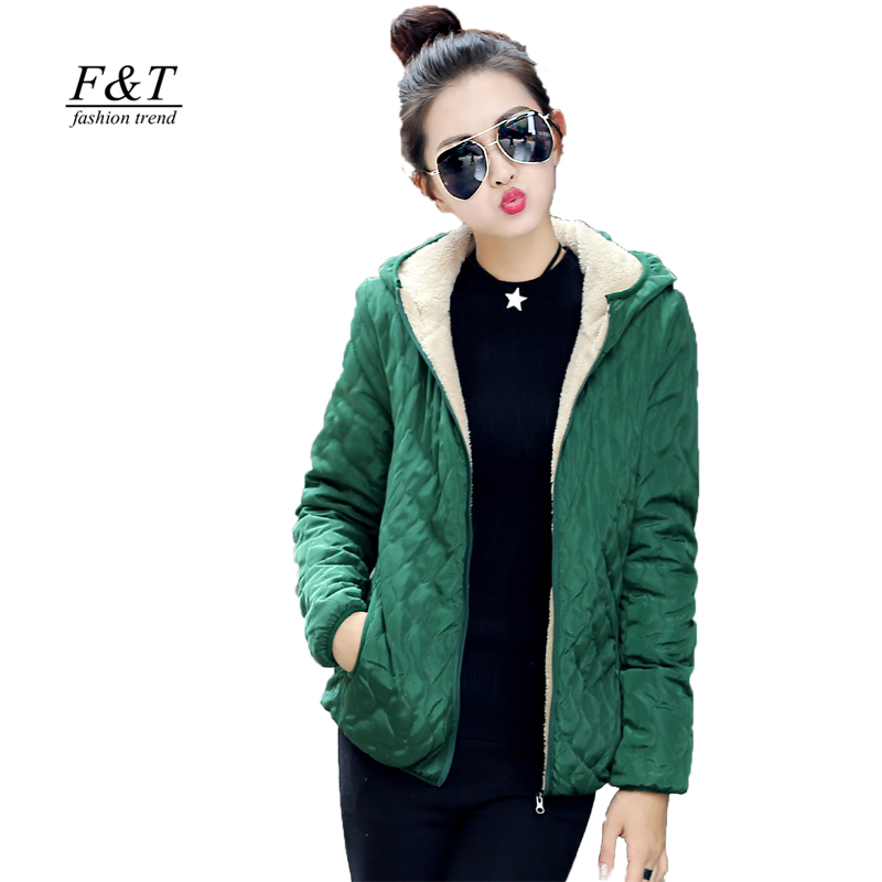 Fitaylor New Spring Autumn Women Jacket Casual Cotton Hooded Coats Plus Size Parka Slim Abrigos Lattice Parkas Quilted Overcoat