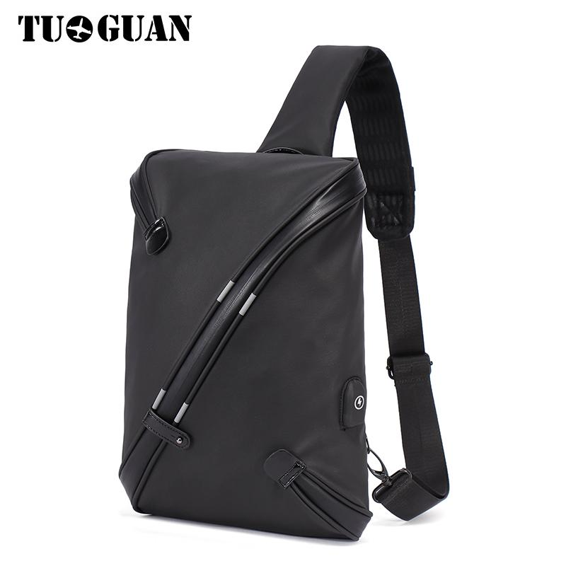 TUGUAN Men Anti Theft Chest Bag Canvas Sling Pack Casual Messenger Bag Shoulder Crossbody Bags Male Travel Bolsa New Designer slim men s bag male bags for men handbags waist bag canvas men messenger bags men crossbody shoulder phone pocket chest pack