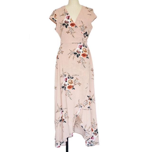 VITIANA 2017 Women Summer Vacation Bohemian Beach Dress White Black Flower Print Boho Maxi Long Casual Clothing With Belt