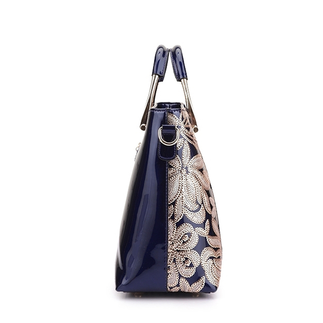 XFE Aristocratic Women Bag Handbags Patent Leather Lady Shoulder Bag Famous Brand Fashion Female OL Bag Wedding Party Bag bolsa