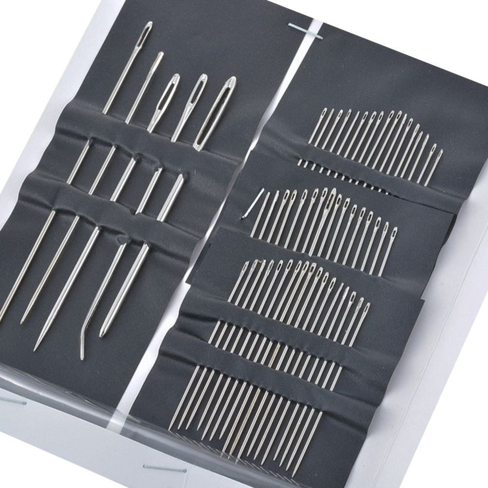 55 in 1 Stainless Steel Hand Sewing Needles Kit Mending Craft Sew Pins