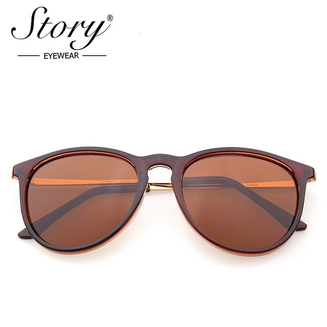 b9ed7a78a3bc0 STORY Men Polarized Sunglasses Classic Women Retro brand designer Alloy Sun  glasses for men cat eye glasses Erika Anti-UV400