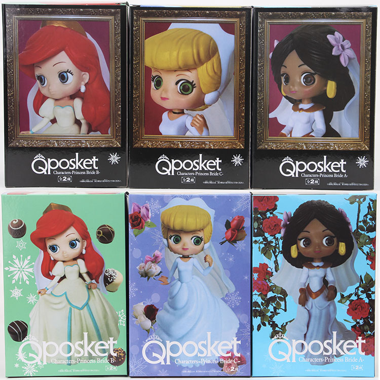 Qposket Princess Cinderella Belle Alice Elsa Anna Harley Quinn Ariel Wonder Women Rapunzel Jasmine tinker bell Figure Toys