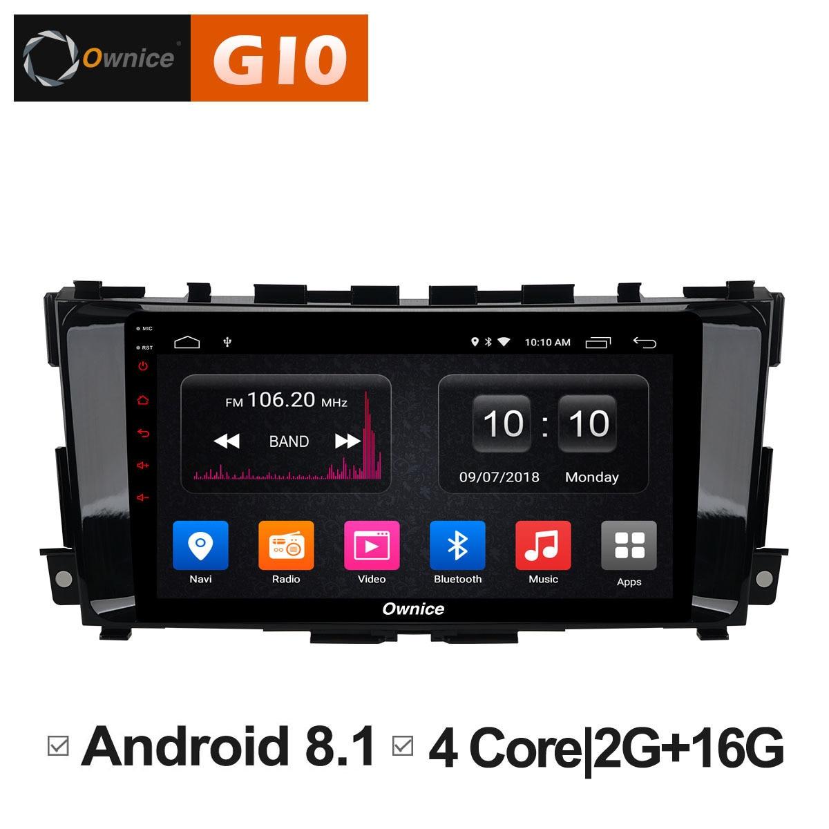 Android 8.1 unité voiture 1 2 din radio GPS navigateur DVD Multimeida lecteur pour nissan teana altima 2013 2014 2015 2016 Carplay DAB