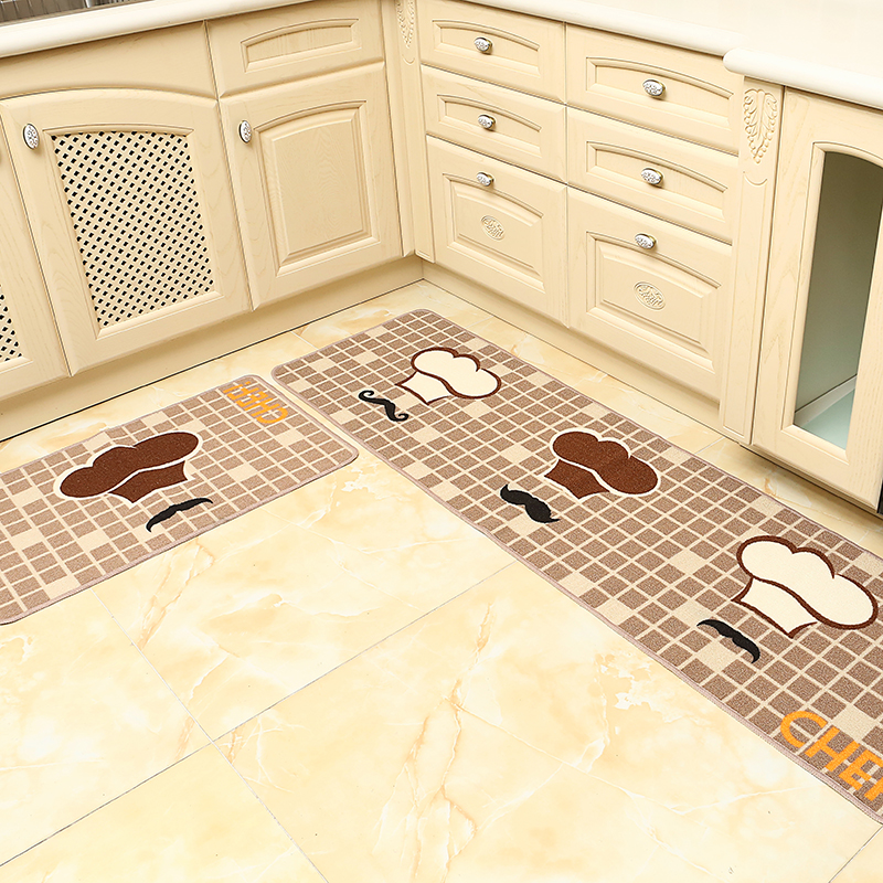 2Pcs/set Carpet Water Absorbing Oil Proof And Dirty Proof Mats Waterproof Anti-skid Floor Mat Rugs For Kitchen Tapis de cuisine