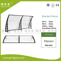 YP100360 ALU 100x120cm 100x240cm 100x360cm Entrance Door Canopy Home Use Polycarbonate Awning Canopy