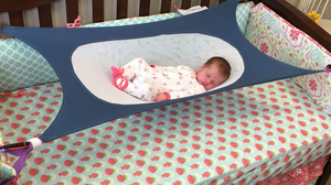 Baby Bed Infant Baby Hammock for Newborn Kid Sleeping Bed Safe Detachable Baby Cot Crib Elastic Hammock with Adjustable Net Crib