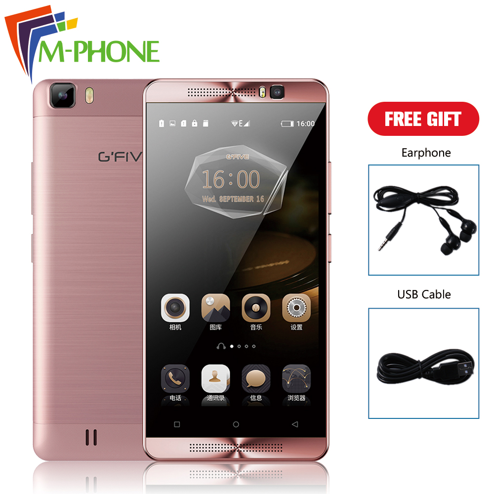 Original Gfive L3 Mobile Phone 5 5 inch 5000mAh Battery Android 6 0 MT6580M Quad Core