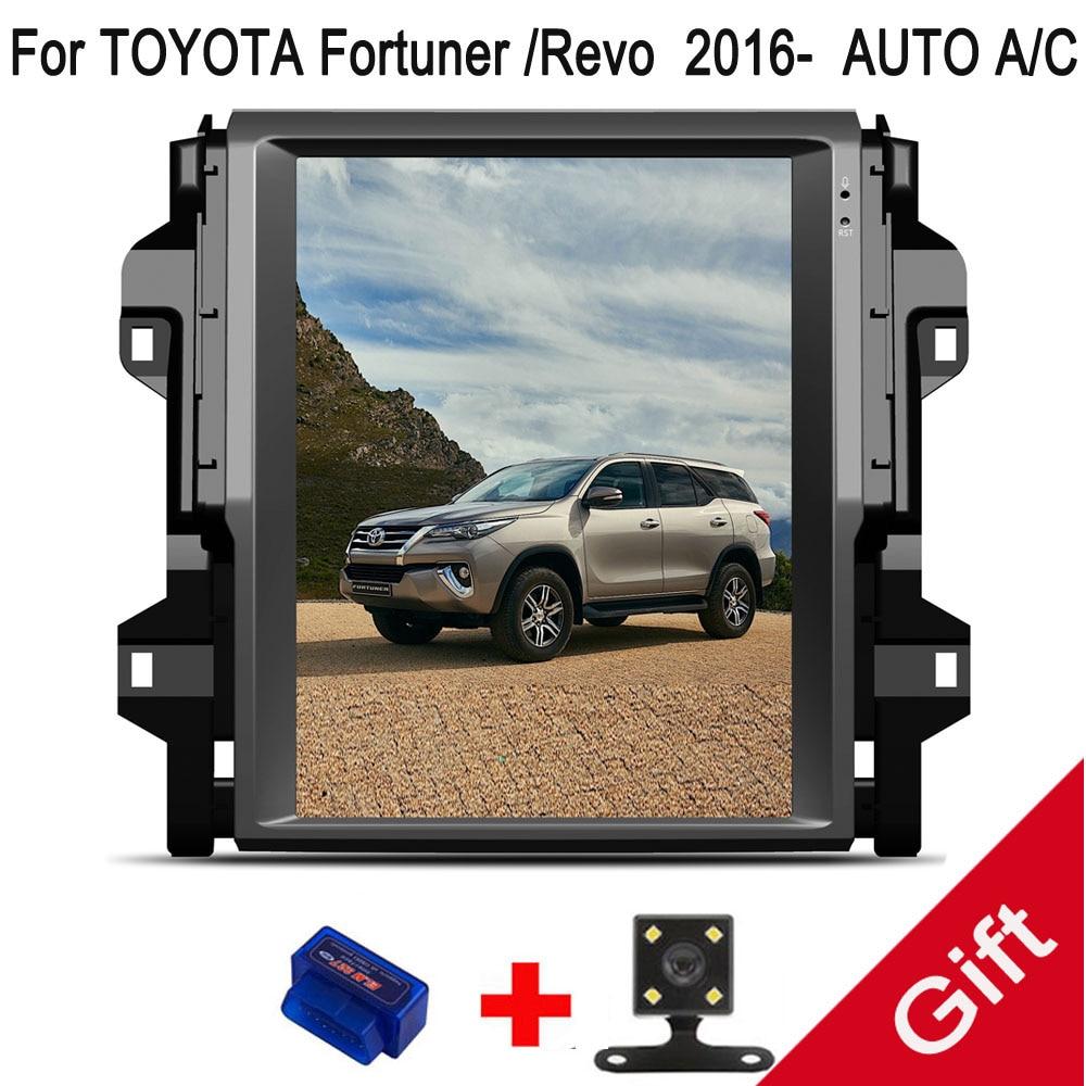 12,1 Тесла Тип Android Fit TOYOTA Fortuner/Hilux Revo 2016 2017 2018 Авто A/C автомобильный dvd плеер навигация GPS радио