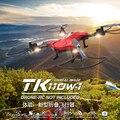 Tk110hw helicóptero mini drone rc quadcopter drone com câmera fpv profissional automático pressão de ar de alta vs jjrc h37 h36