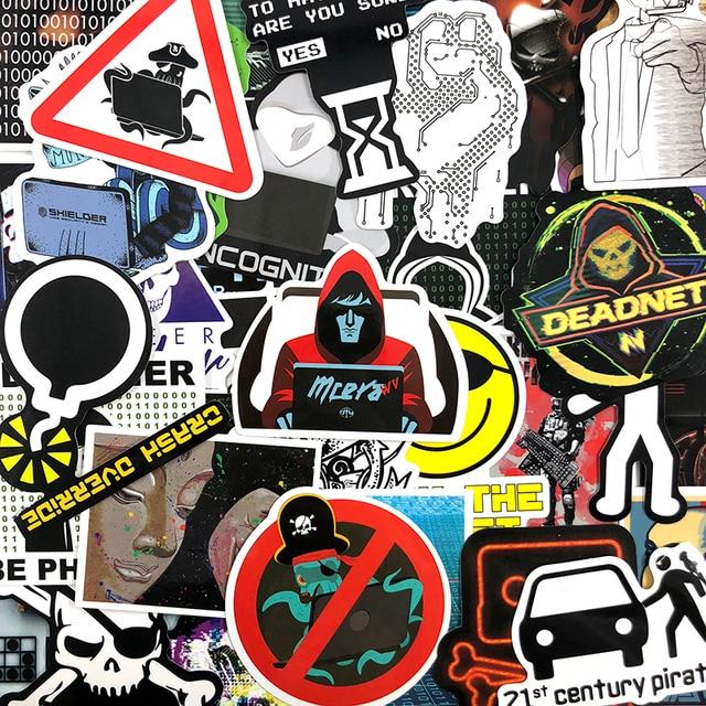 50 Teile/satz Hackers Graffiti Aufkleber Geek Java Programmierung Aufkleber Für Gepäck Laptop Motorrad Skateboard Fahrrad Aufkleber Spielzeug