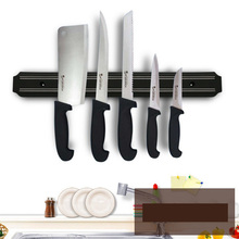 Kitchen Magnetic Knife Holder High Quality Powerful Wall-Mounted Stainless Steel Block Magnet Knife Holder Rack Stand for Knives new strong suction stainless steel magnet holder kitchen knife tableware wall mounted shelf rare earth magnet with 3m sticker
