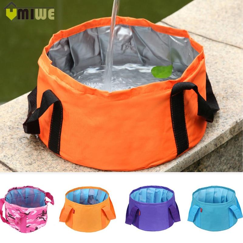 15L Folding Portable Camping Travel Bucket Washing Basin Collapsible Water Pot