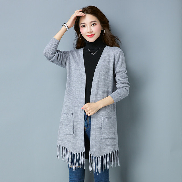 6b6bd05097b869 New Spring 2018 Women Sweater Cardigans Casual Warm Long Design Female  Knitted Sweater Coat Cardigan Sweater Lady