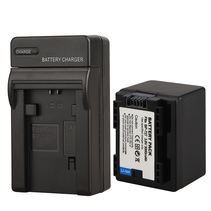 3000mAh BP-727 Decoded Camara Battery + Charger for Canon VIXIA HF R30 M50 M52 500 M56 M506 R36 R38 R306 R400 R500 R600 R60 R623000mAh BP-727 Decoded Camara Battery + Charger for Canon VIXIA HF R30 M50 M52 500 M56 M506 R36 R38 R306 R400 R500 R600 R60 R62