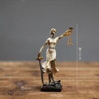 Ancient Greek Figure Sparta Statue Vintage Decoration Creative Bar Coffee Bar Living Room Study Decorations Crafts Ornaments Figurines & Miniatures    -