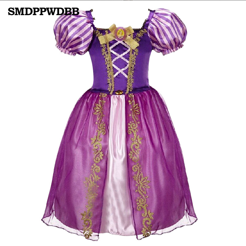 SMDPPWDBB Girl princess dress gown carnival costumes for girls child deguisement new year dress for girls baby party frocks free shipping new red hot chinese style costume baby kid child girl cheongsam dress qipao ball gown princess girl veil dress