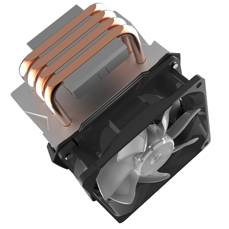 Refroidisseur Master T410R 4 caloduc refroidisseur de processeur pour LGA 1155 1156 AMD AM4 AM3 silencieux 92mm LED 4pin PWM ventilateur PC CPU ventilateur de radiateur de refroidissement - 5