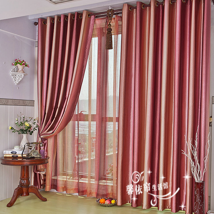 Popular red stripe curtains buy cheap red stripe curtains for B m living room curtains