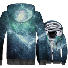New Fashion Clothing 2018 3D Space Galaxy Printed Hoodies Hip Hop Unisex Tracksuit Green Star Nebula Hoodie Harajuku Thick Coats