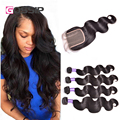 Brazilian Virgin Hair Body Wave With Closure Wet And Wavy Human Hair Extensions Brazilian Body Wave Virgin Hair With Closure