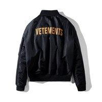 Vetements Reversible Women Men Unisex 1:1 Winter Ma 1 Bomber Jacket Coat Winter Padded Bomber Jackets Coats Streetwear