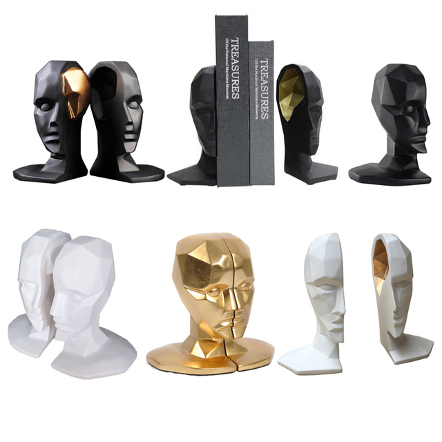 Elegant European Study of High-Grade Office Decorations Resin Crafts Human Face Brain Bookends Best GIFT R105